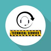 Technical service. call center icon. support concept Stock Illustration