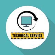 Technical service. call center icon. support concept Piirros
