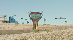 Village of Los Lunas NM Sign - stock footage