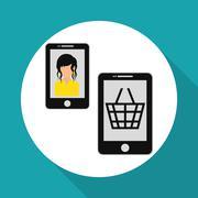 Social media. multimedia icon. online concept, vector illustration Stock Illustration