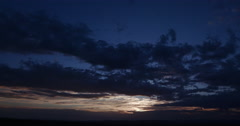 4K Time-lapse of sunset with moving clouds Stock Footage