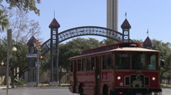 Tower of the Americas Pan Up Stock Footage