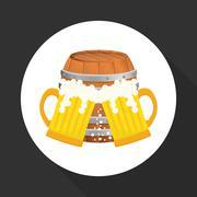 Beer design. brewery icon. beverage concept, vector illustration - stock illustration