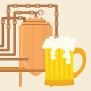 Beer design. brewery icon. beverage concept, vector illustration Stock Illustration