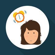 Resting design. sleep icon. bedtime concept, vector illustration - stock illustration
