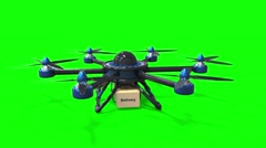 Blue drone Stock Footage