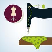 Sewing design.textile icon. tailor shop concept Stock Illustration