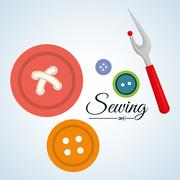 Sewing design.textile icon. tailor shop concept - stock illustration