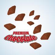 Chocolate design. sweet icon. dessert concept Stock Illustration