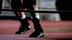 Boxer's Footwork Stock Footage