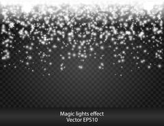 Glow special effect light, flare, star. Firework. Isolated spark. Really - stock illustration