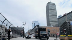 Prudential Tower (aka Prudential Building) in Boston, USA. Stock Footage