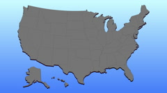 Animated map of Florida Stock Footage