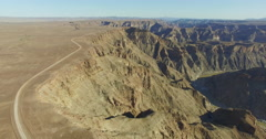 4K aerial view of Fish River Canyon Stock Footage