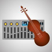Music design. isolated illustration.entertainment concept Stock Illustration