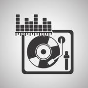 Music design. isolated illustration.entertainment concept - stock illustration