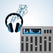 Music design. isolated illustration.entertainment concept Stock Illustration