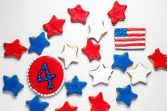 American Independence Day cookies Stock Photos
