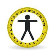Healthy lifestyle design. fitness icon. Bodybuilding illustratio Stock Illustration