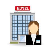 Hotel design. service icon. travel concept Stock Illustration