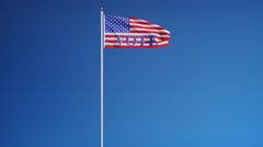 Vote 2016 Presidential Elections USA flag in slow motion looped with alpha Stock Footage