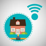 Home automation design. smart house icon. house concept, vector illustration - stock illustration