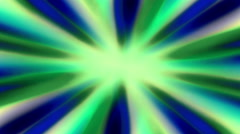 Shiny Sunburst Rays Of Blue and Green Light Loop Backgorund - stock footage