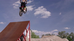 Extreme Freestyle Motocross Stock Footage