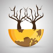 Save planet design. ecology icon. Think green concept, vector illustration - stock illustration