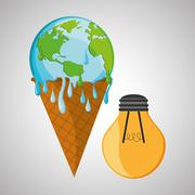 Save planet design. ecology icon. Think green concept, vector illustration Stock Illustration