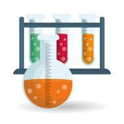 Science design. Research concept. Chemistry illustration Stock Illustration