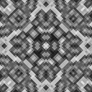 Kaleidoscopic low poly rhomb style vector mosaic background - stock illustration