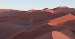 4K panning shot of the endless sand dunes of the Namib desert Stock Footage