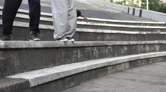 Parkour Teen Boys Doing Stunts - stock footage