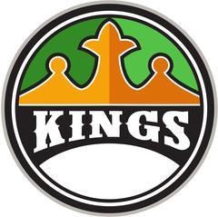 King Crown Kings Circle Retro - stock illustration