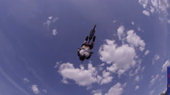 Mountain Bike Extreme Sports - Back Flip Against Sky Stock Footage