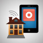 Smart home design. Technology icon. system concept Stock Illustration