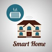 Smart home design. Technology icon. system concept - stock illustration