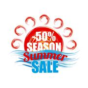Season summer sale banner Stock Illustration