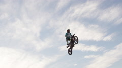 FMX slow motion - Extreme Freestyle Motocross Stock Footage