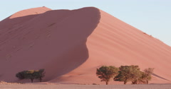 4K time lapse of sun setting on the sand dunes inside the Namib-Naukluft Stock Footage