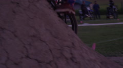 Extreme Sport Mountain Bike BMX Trick - close up silhouette Stock Footage