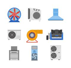 Industrial fan vector illustration - stock illustration