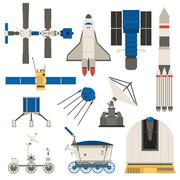 Space ship transport vector set Piirros