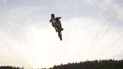 Freestyle Motocross Jumping Stock Footage