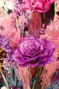 Bouquet of artificial flower Stock Photos