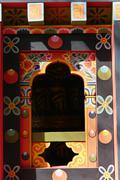 The design of Bhutan window Stock Photos