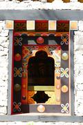 The design of Bhutan window Stock Photos