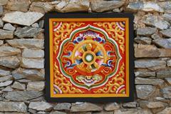 The design of sculpture art in Bhutan style Stock Photos