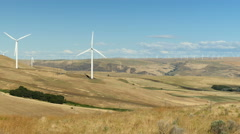 Wind Turbines, Windmills Turning In the Wind Stock Footage